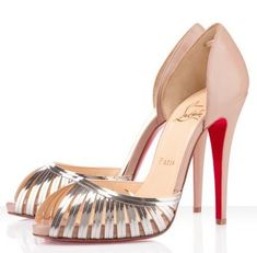 Christian Louboutin - The silver, caged vamp and nude heel on Christian Louboutin's