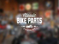 Classic Bike Parts Cheshire by Damian Kidd Logo Design Typography Logo, Graphic Design Typography, Lettering Design, Graphic Design Tools, Vintage Graphic Design, Vintage Type, Web Design, Typography Inspiration, Logo Design Inspiration