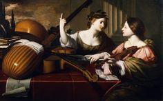 Nicolas Regnier - The Divine Inspiration of Music [c.1640] | by Gandalf's Gallery