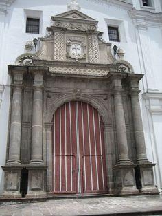 Main entrance to the Carmen Alto Cloister. Quito, Ecuador