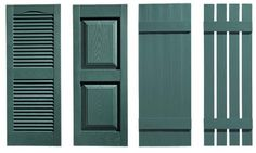 Hunter green shutters, etc., always classic with white clapboard housing.