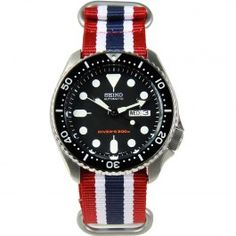 Seiko Automatic Mens Dive Watch with Extra Strap Best Watches For Men, Male Watches, Seiko Automatic, Seiko Watches, Watch Sale, Chronograph, Diving, Bracelet Watch, Cool Style