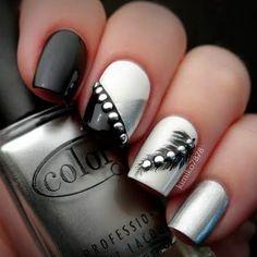 Fashion For Women: Rock star black nail polish