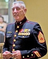 Ronald Lee Ermey (born March is a retired United States Marine Corps Gunnery Sergeant, Drill Instructor and actor.{My Dad was a USMC Sergeant and Drill instructor} Marine Tattoo, Once A Marine, Marine Mom, Marine News, Marine Life, Us Marine Corps, Military Life, Military History, Anime Military
