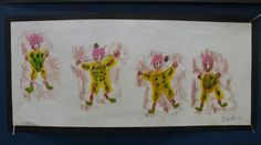 Circus  Working with Shape & Movement  Mixed Media Wax crayon rubbings, oil pastel & pencil Year 5