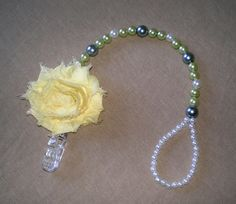 Beaded Pacifier Clip Baby Accessories by BittysBabyCreations, $15.99  like the beaded loop at the end