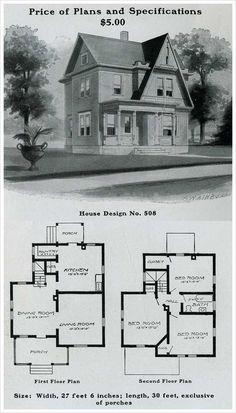 1925 Vintage Duplex House Plan For Two Families Radford
