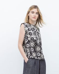 Image 2 of POSITIONAL PRINT TOP from Zara
