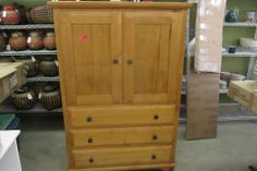 Pine Upright Chest Used