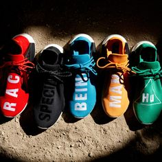 the pharrell x adidas nmd hu collection releases later this week and includes five new colorways. ta