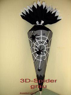 BASTELSET  Schultüte Zuckertüte  Spider grau Spinne von bastelreni, €22,90
