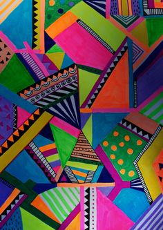 L/A/B/Y/R/I/N/T/H/I/N/E   geometric     Art Print by vasare nar #art #neon