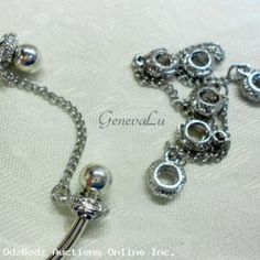 6 Euro Bead Stoppers with Chains
