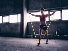 Kim Lyons, celeb trainer and coauthor of Your Body, Your Life, created this workout to shape and lift your butt and thighs. Best Resistance Bands, Resistance Band Exercises, Body Exercises, Plank Hip Dips, Band Workouts, Workout Tips, Workout Routines, Weekly Workout Plans, 20 Minute Workout