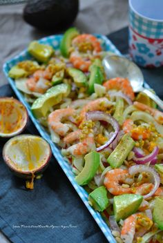 Salade Fenouil,Avocat,Crevettes,Oignons Rouges,Passion – The Heart In The Stomach Salad Recipes, Snack Recipes, Healthy Recipes, Mediterrean Recipes, Cold Dishes, Fennel Salad, Snacks, Superfood, Good Food