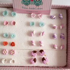 Small handmade polymer clay earrings ♡