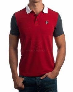 Polos EA7 Armani - Rojo & Blanco | Mejor precio & Envio Gratis Camisa Polo, Man Gear, University Outfit, Royal Look, Mongoose, Pamplona, Men's Wardrobe, Polo T Shirts, Men Looks