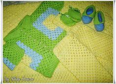 ATELIÊ ARTE DE BORDAR: Conjunto para bebê em crochê