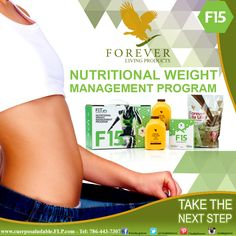 TAKE THE NEXT STEP F15 offers a personalized approach to looking better  and feeling better. Choose a fitness level that helps  you achieve your goals and puts you on the road  towards permanent change. www.cuerposaludable.FLP.com www.energybody.FLP.com #foreverlivingproducts #heatlh #healthy #nutrition