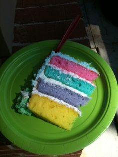 Inside of Lorax cake 2012