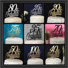 Birthday cake toppers from p.s. weddings and events