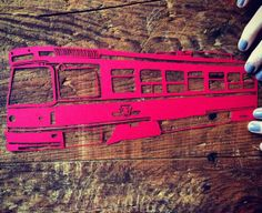 Toronto TTC Streetcar handmade paper cutting artwork by lightpaper, $40.00 Paper Cutting, Stationary, Toronto, Artwork, Cards, Handmade, Etsy, Work Of Art, Hand Made