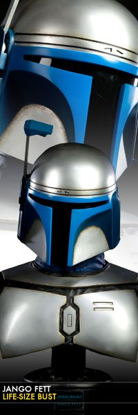Jango Fett Life-Size Bust  $799.99    Sideshow Collectibles proudly presents newest entry in our Star Wars Life-Size bust collection, Jango Fett. In partnership with Spectral Motion effects studio, the famed bounty hunter has been sculpted with meticulous attention to detail.