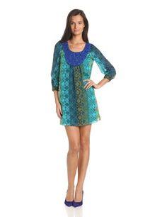Anna Sui Women's Geometric Tonal Beaded Neckline Dress, Blue, 0 Anna Sui http://www.amazon.com/dp/B00DS4P4I8/ref=cm_sw_r_pi_dp_PXCgub1RM7RE2