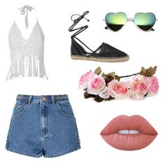 coachella by emma-robion on Polyvore featuring polyvore fashion style Glamorous Circus By Sam Edelman Lime Crime clothing