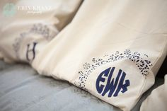 Handmade monogram tote bags as bridal party gifts - Erin Kranz Photography » Charlotte NC Wedding Photographer