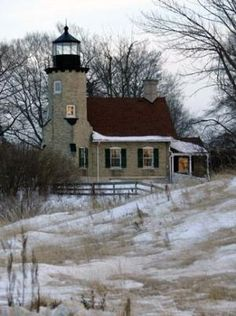 White River Lighthouse, Whitehall, Michigan by Divonsir Borges Candle On The Water, Puerto Rico, Nebraska, Wyoming, Lighthouse Pictures, Beacon Of Light, Light Of The World, Great Lakes, Beautiful Places