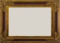 Wall Picture Frame. Fancy Maroon & Gold Picture Frame