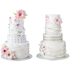 Splurge vs. Save Wedding Cake Cost-Cutting Tips From Top Bakers ❤ liked on Polyvore featuring wedding cake, cakes, food, wedding and filler