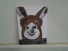 Schilderij ezel