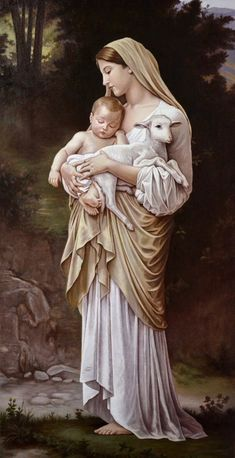 Blessed Mother Mary and baby Jesus Mother Mary Images, Images Of Mary, Blessed Mother Mary, Blessed Virgin Mary, Mary Jesus Mother, Mother And Child, Catholic Art, Religious Art, Virgin Mary Art