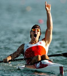 Adam van Koeverden after winning Olympic gold in -CP Trying for another medal for Canada in Crying Shame, Happy Canada Day, Olympic Athletes, O Canada, Sports Figures, Latest Sports News, Summer Olympics, Kayak Fishing, Kayaking