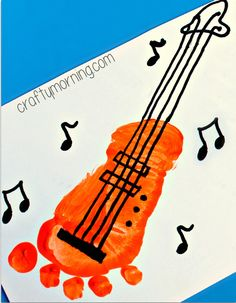 Image from http://www.craftymorning.com/wp-content/uploads/2014/07/footprint-guitar-craft-for-kids-.png.