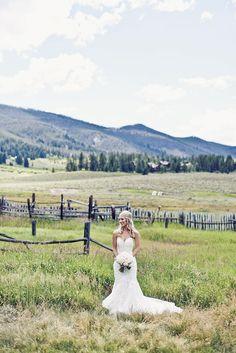 Beautiful Bride at Keystone Ranch, Keystone Resort, CO Keystone Resort, Green Lawn, Rustic Elegance, The Ranch, Beautiful Bride, Colorado, Romantic, Elegant, Wedding Dresses
