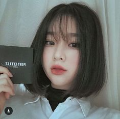 ˏˋ ♡ @ e t h e r e a l ˎˊ& ulzzang gi̇rl ♡ ulzzang hair, ulzzang short hair Short Hair With Bangs, Haircuts With Bangs, Girl Haircuts, Girl Short Hair, Short Hair Cuts, Korean Hairstyle Short Bangs, Korean Short Hair Bob, Korean Bob, Bob Haircuts