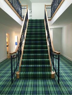 Maccallum Tartan carpet installation. Designed, manufactured and installed by Stevens & Graham Glasgow