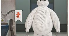 Baymax Big hero 6 free crochet pattern by Judit Guillen. Just watched this movie and decided to find a crochet patter for Baymax Diy Tricot Crochet, Crochet Gratis, Crochet Amigurumi Free Patterns, Cute Crochet, Crochet For Kids, Crochet Dolls, Crochet Baby, Baymax, Big Hero 6