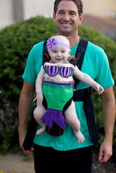 Trick-or-treating will be a lot easier if you use your Baby Bjorn, but don't let the baby carrier get in the way of a cute costume! Here are 42 costume ideas that you AND your baby can rock this Halloween.