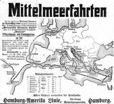 Werbung für Mittelmeer-Kreuzfahrten der Hamburg-Amerika Linie