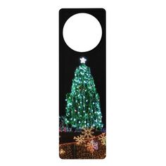 Bright Lights Christmas Tree Door Hanger Cleveland Tree, Public Square