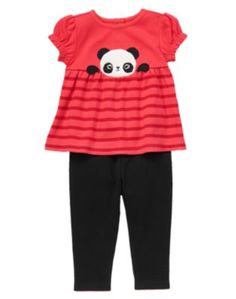 NWT Gymboree Ribbed Tee Mushroom Woodland Leggings Outfit Baby Toddler Girl
