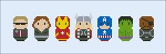 The Avengers - Movies - Mini People - Cross Stitch Patterns - Products
