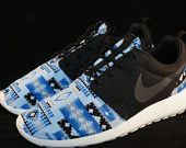 New Nike Roshe Run Custom Gray Black Green Cabo by JBCustomKicks