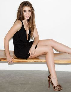 Lily Collins has great legs