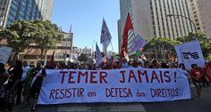 Galdino Saquarema 1ª Página: Michel Temer foge para Brasília com medo de manifestantes em São Paulo
