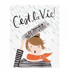 C'est La Vie Illustrated Art Print